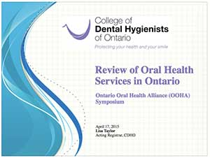 Oral Health Services Review